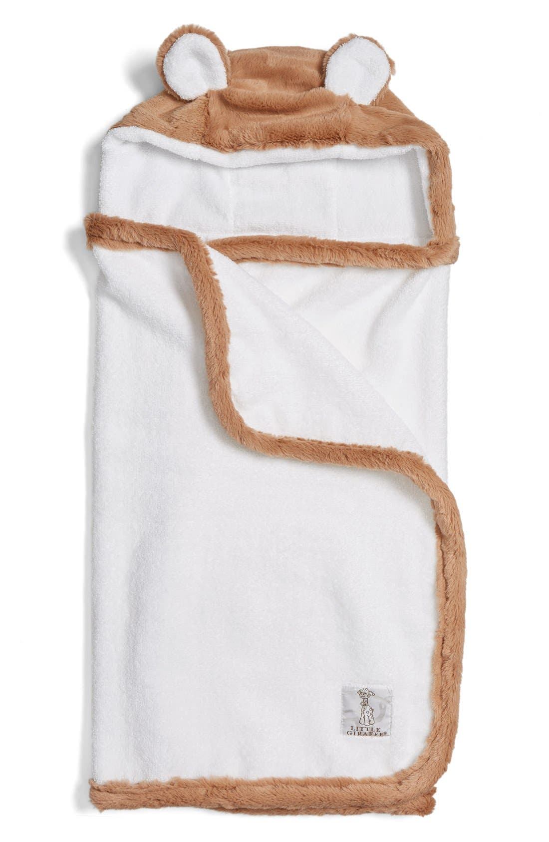 Alternate Image 1 Selected - Little Giraffe Luxe Hooded Towel (Baby)