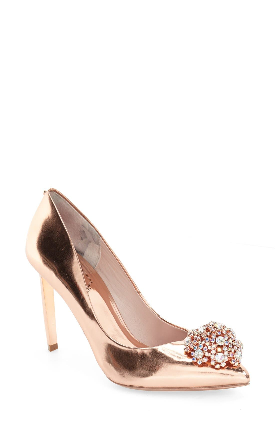 Alternate Image 1 Selected - Ted Baker London 'Peetch' Pointy Toe Pump (Women)
