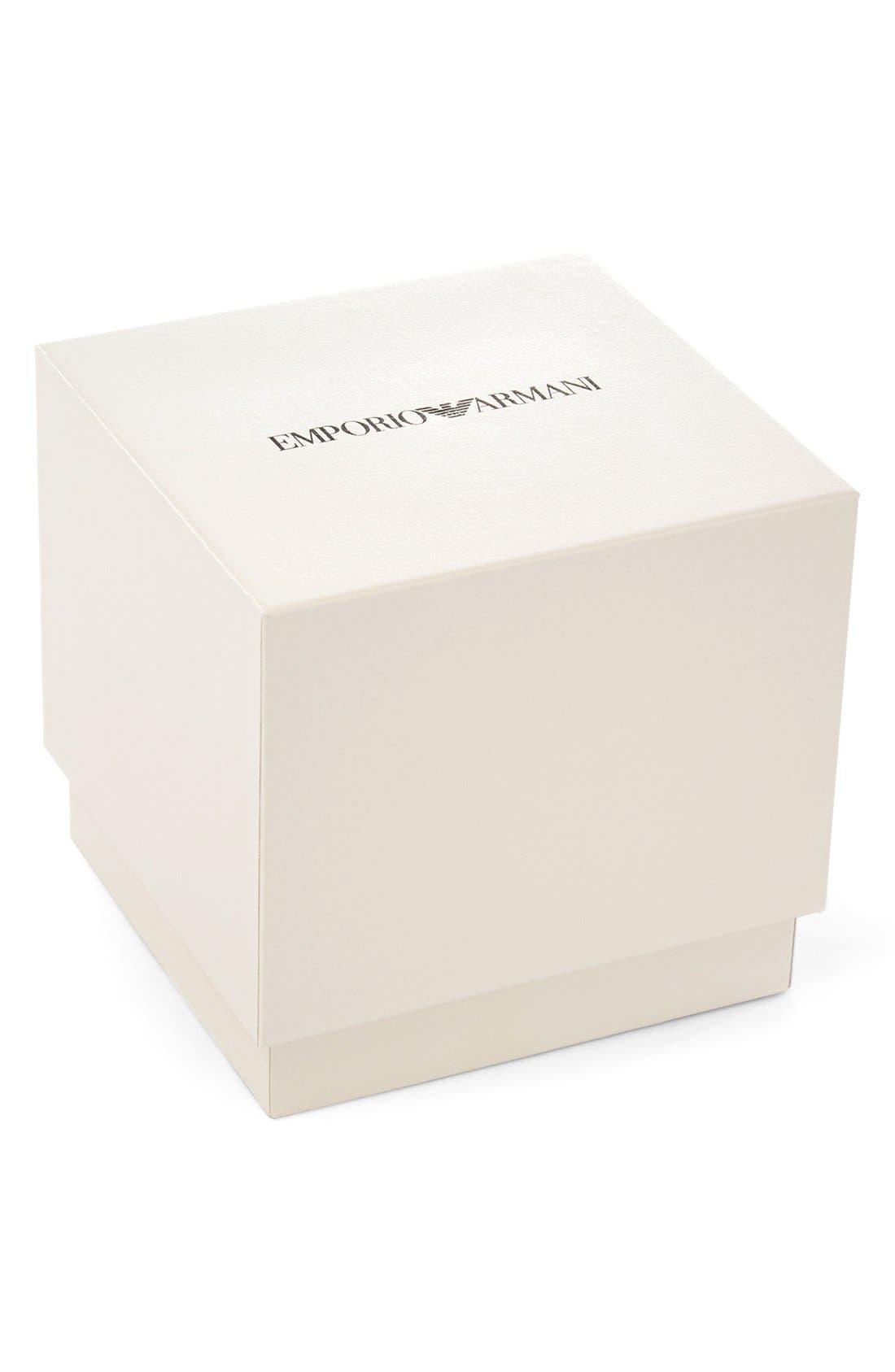Alternate Image 4  - Emporio Armani Chronograph Leather Strap Watch, 43mm