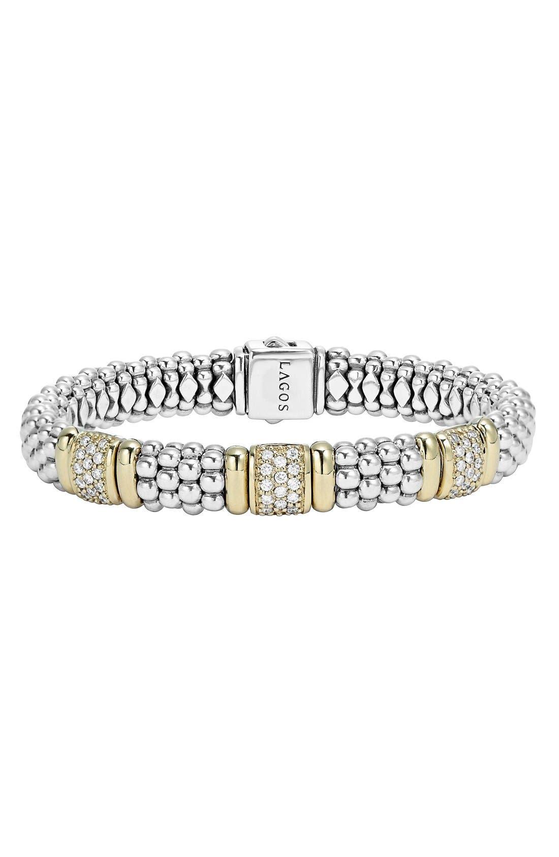 Alternate Image 1 Selected - LAGOS 'Caviar' Diamond Station Bracelet