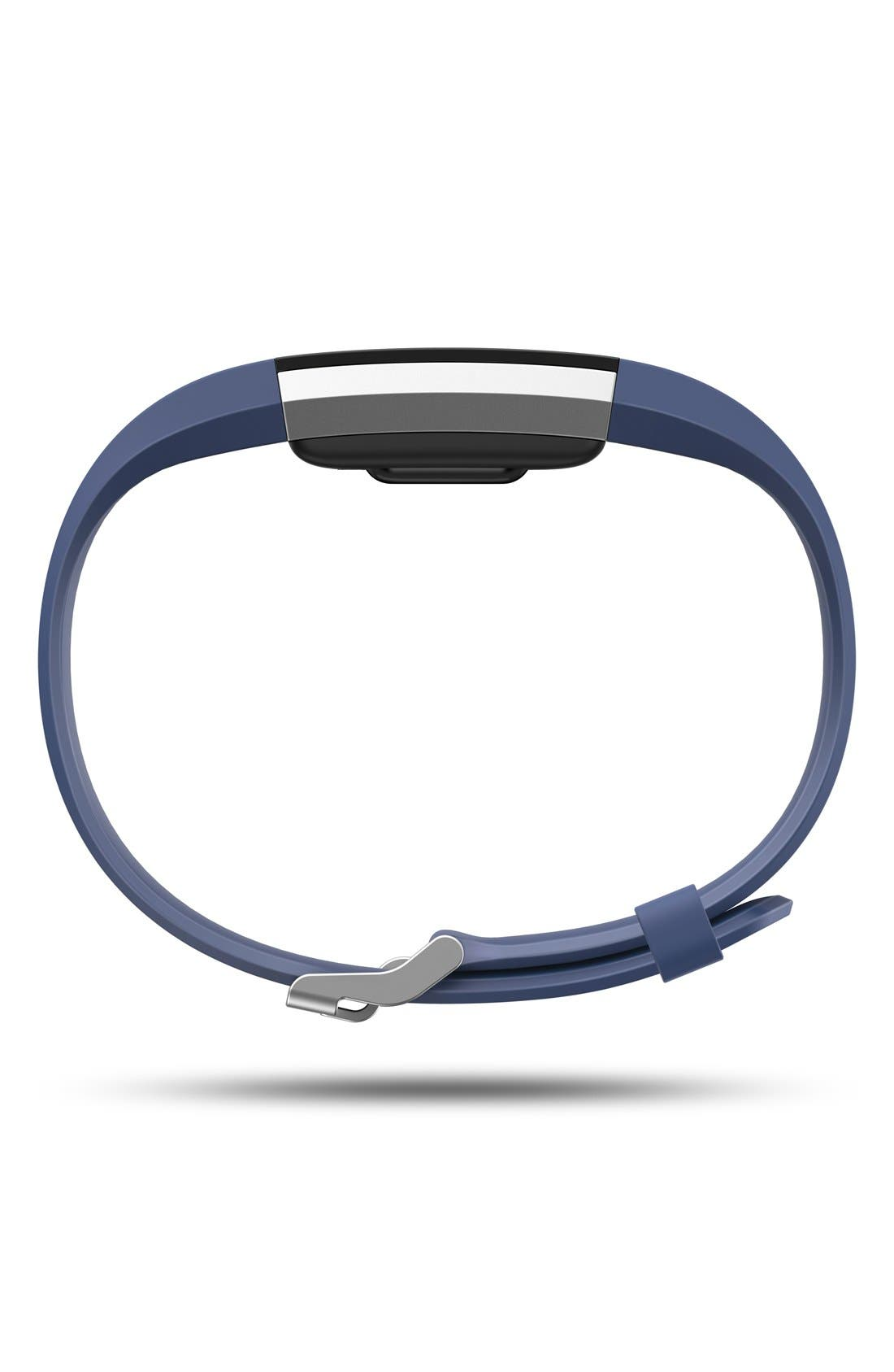 'Charge 2' Wireless Activity & Heart Rate Tracker,                             Alternate thumbnail 3, color,                             Blue
