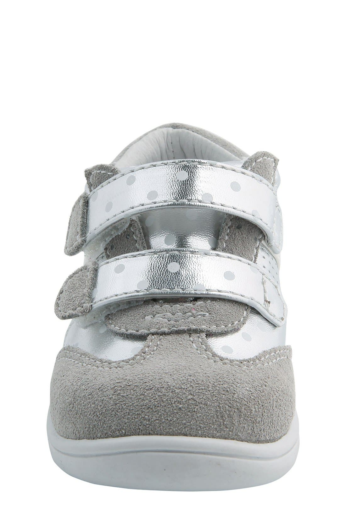 Nina 'Everest' Sneaker,                             Alternate thumbnail 4, color,                             Silver