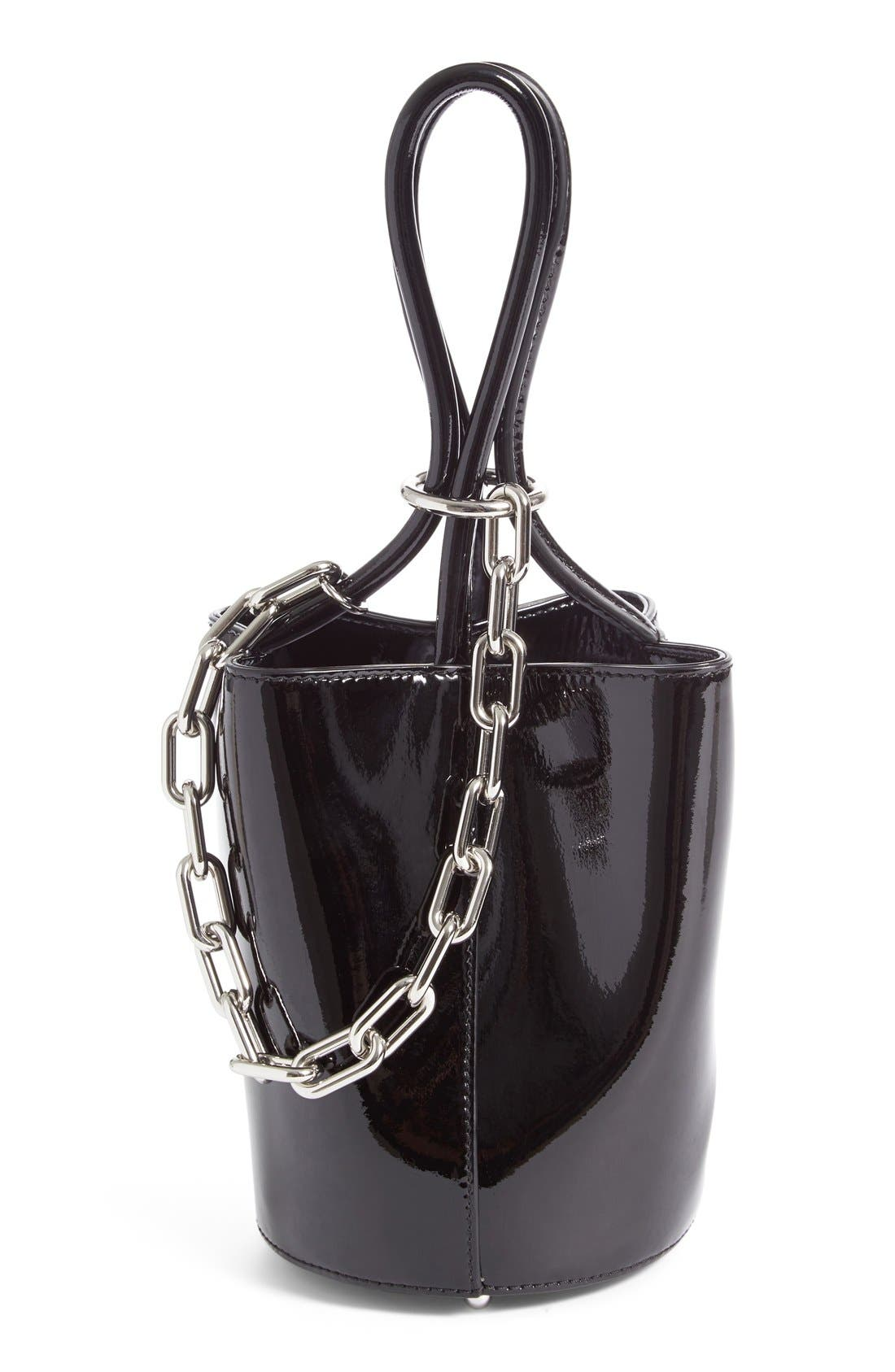 Alternate Image 1 Selected - Alexander Wang Mini Roxy Patent Leather Bucket Bag