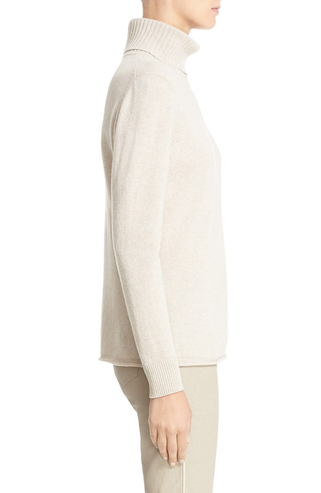 Alternate Image 5  - Lafayette 148 New York Wool & Cashmere Turtleneck Sweater