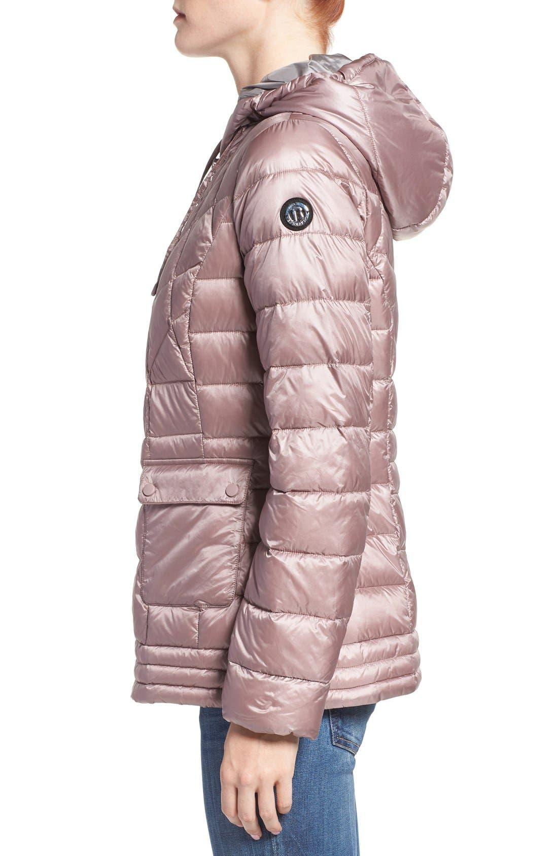 Alternate Image 3  - Bernardo Packable Down & PrimaLoft® Fill Hooded Jacket (Regular & Petite)