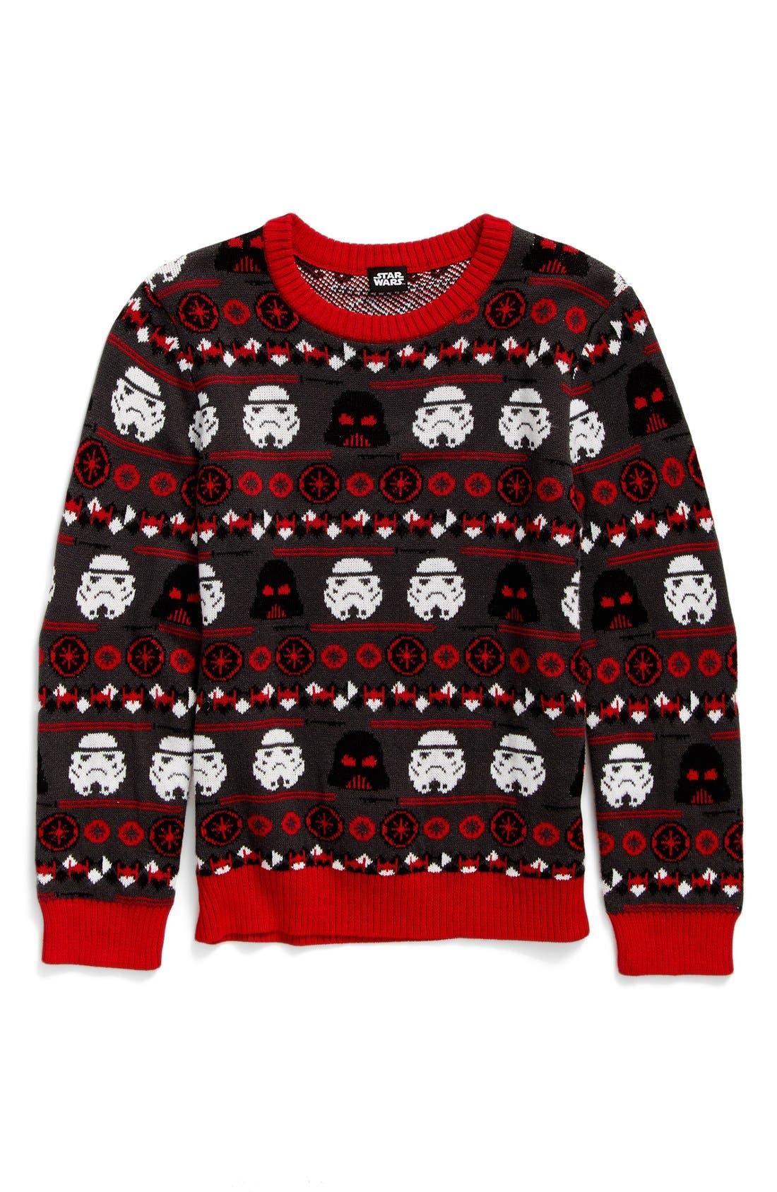 Alternate Image 1 Selected - Jem Holiday Wars Sweater (Big Boys)