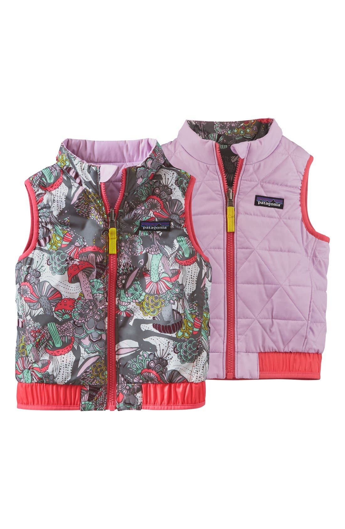 'Puff-Ball' Water Resistant Reversible Vest,                             Alternate thumbnail 2, color,                             Birch White