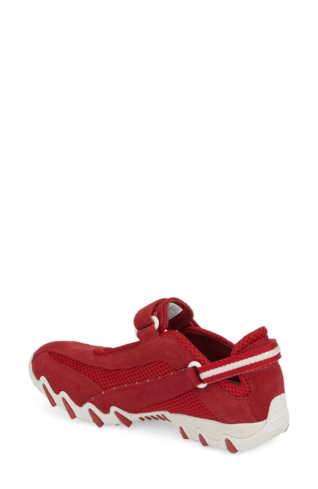 'Niro' Athletic Shoe,                             Alternate thumbnail 2, color,                             Red Suede