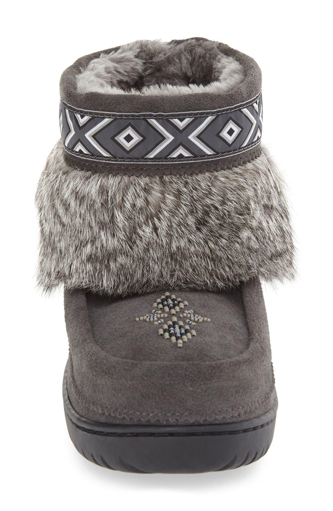Alternate Image 3  - Manitobah Mukluks 'Keewatin' Genuine Shearling and Rabbit Fur Boot (Women)