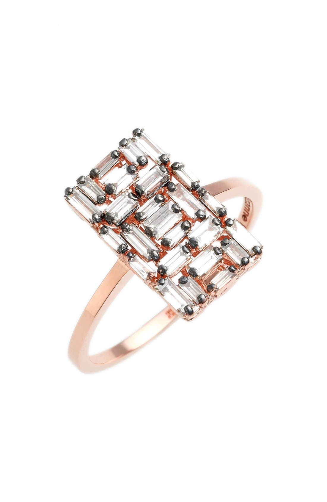 SUZANNE KALAN Fireworks Rectangular Baguette Diamond Ring