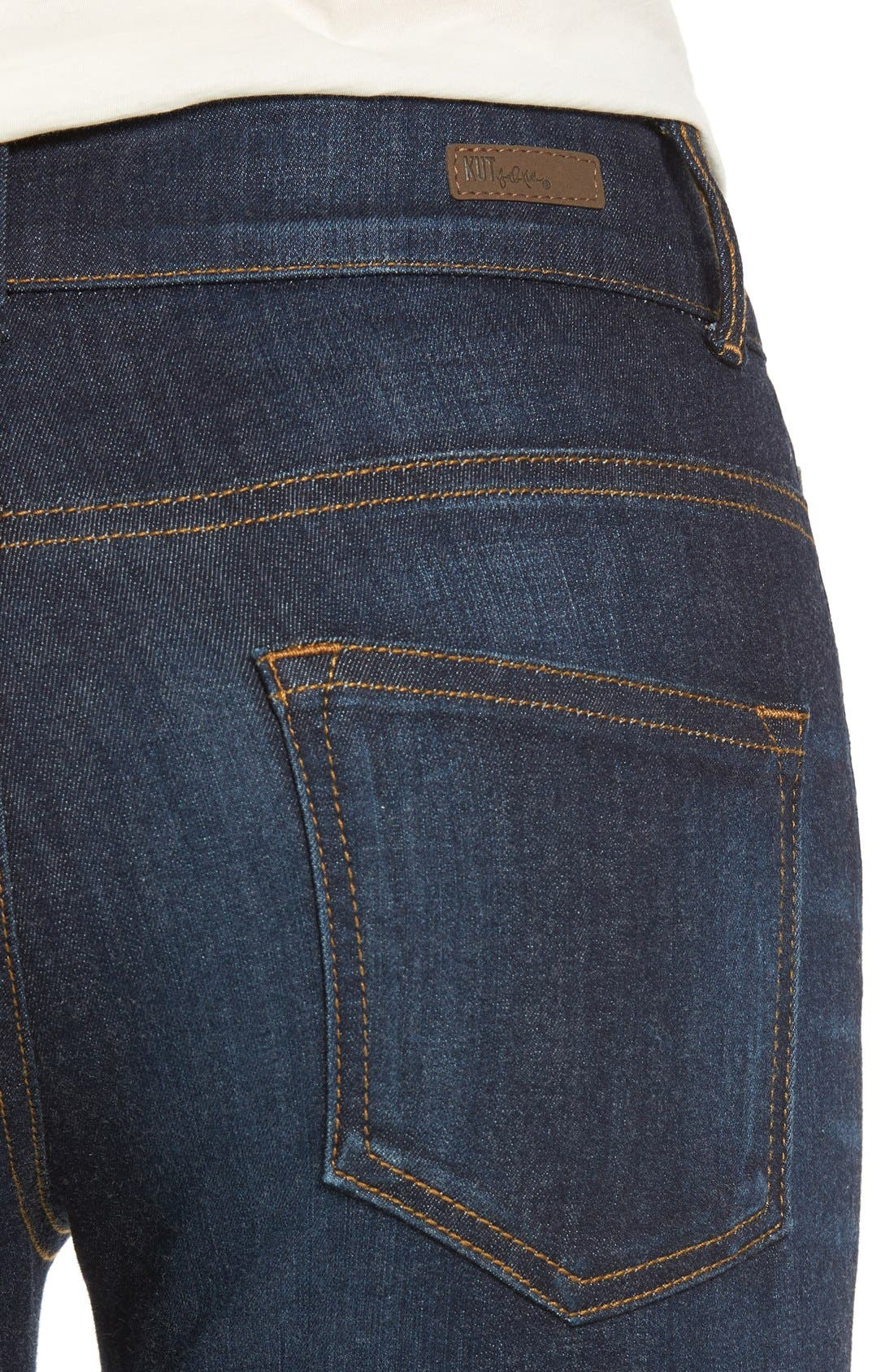 Alternate Image 4  - KUT from the Kloth 'Chrissy' Flare Leg Jeans (Brightness)