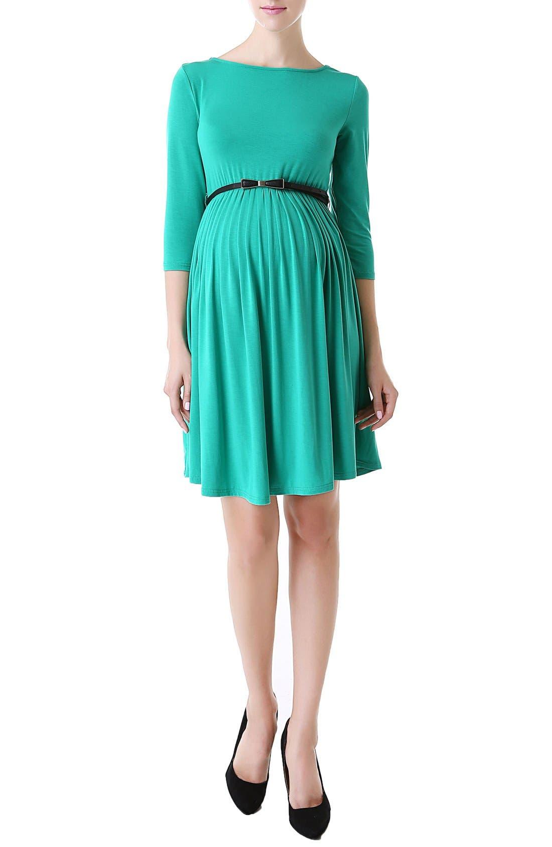 'Shannon' Maternity Dress,                         Main,                         color, Emerald