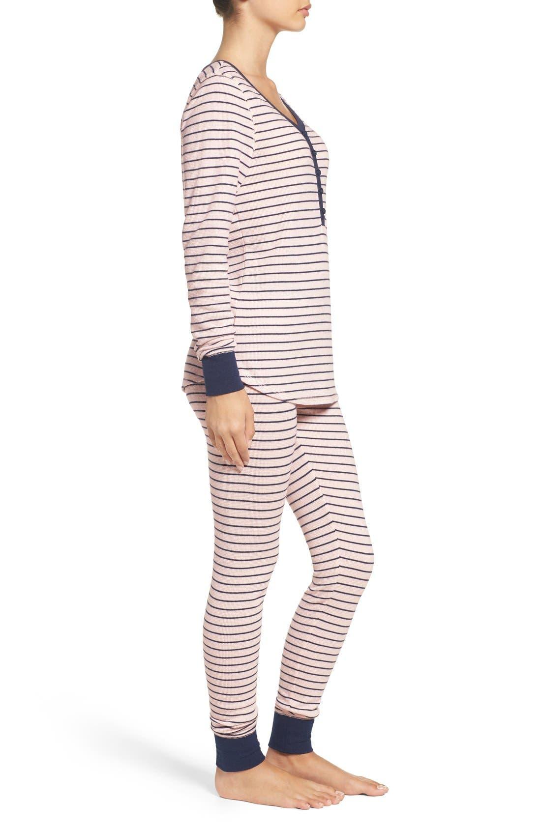 Alternate Image 3  - Nordstrom Lingerie Sleepyhead Thermal Pajamas