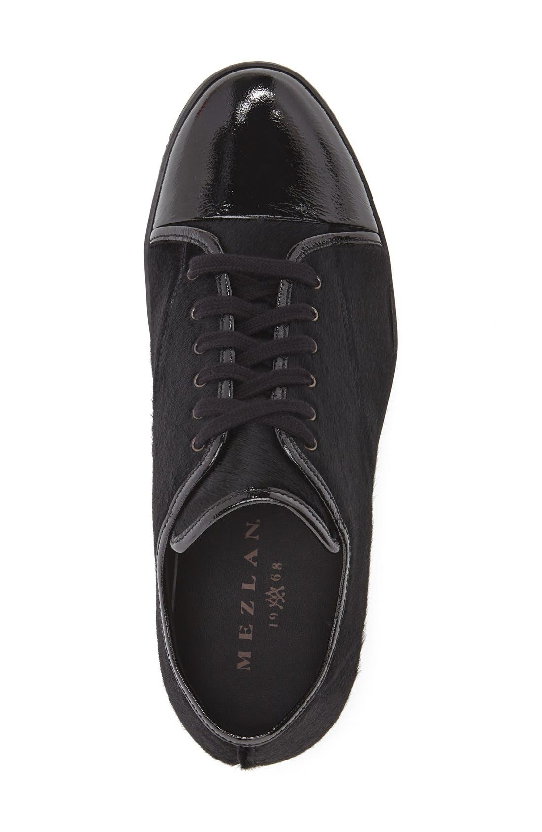 'Scala' Genuine Calf Hair Sneaker,                             Alternate thumbnail 3, color,                             Black