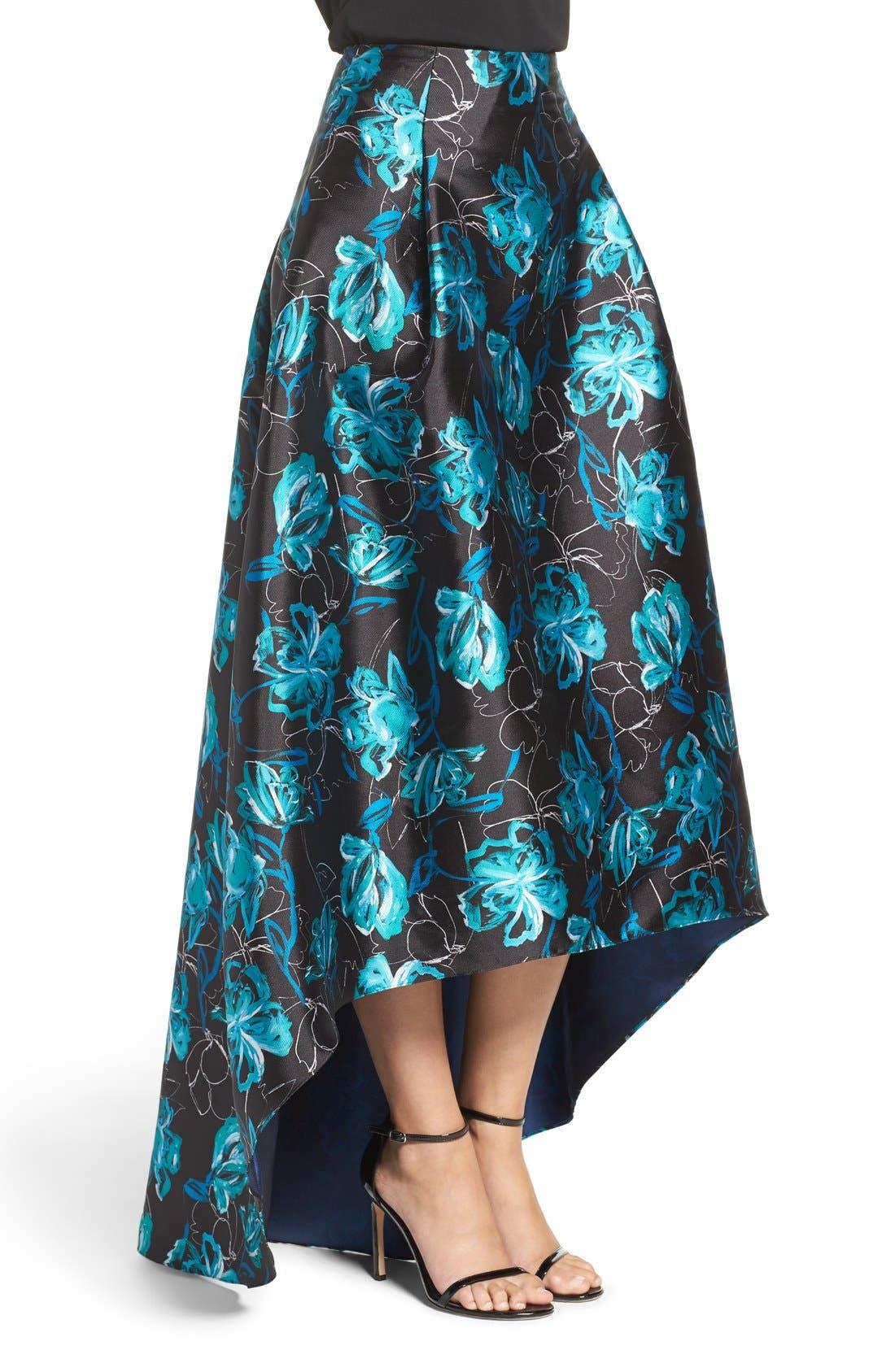 Alternate Image 3  - Sachin & Babi Noir 'Avalon' High/Low Jacquard Ball Skirt