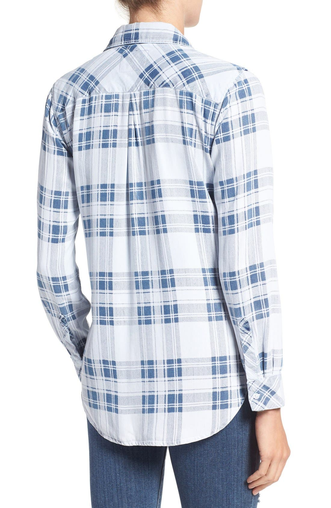 Carter Plaid Shirt,                             Alternate thumbnail 2, color,                             Pigment Plaid
