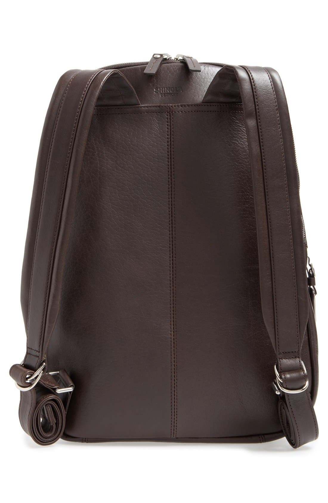 Alternate Image 3  - Shinola Runwell Leather Laptop Backpack