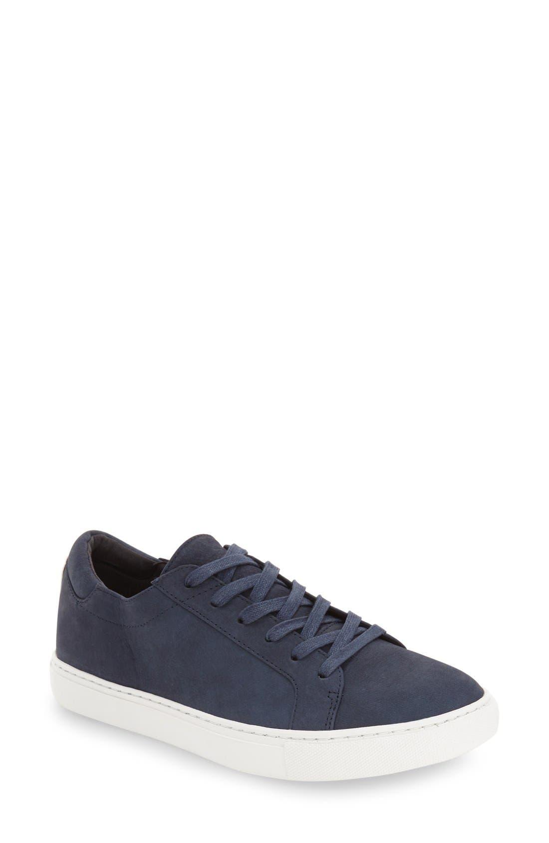 'Kam' Sneaker,                             Main thumbnail 1, color,                             Navy Nubuck Leather