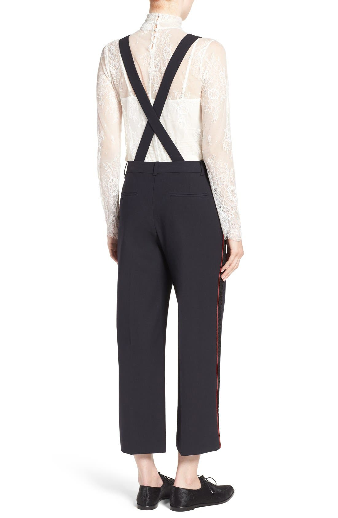 Alternate Image 3  - Olivia Palermo + Chelsea28 High Rise Crop Suspender Pants