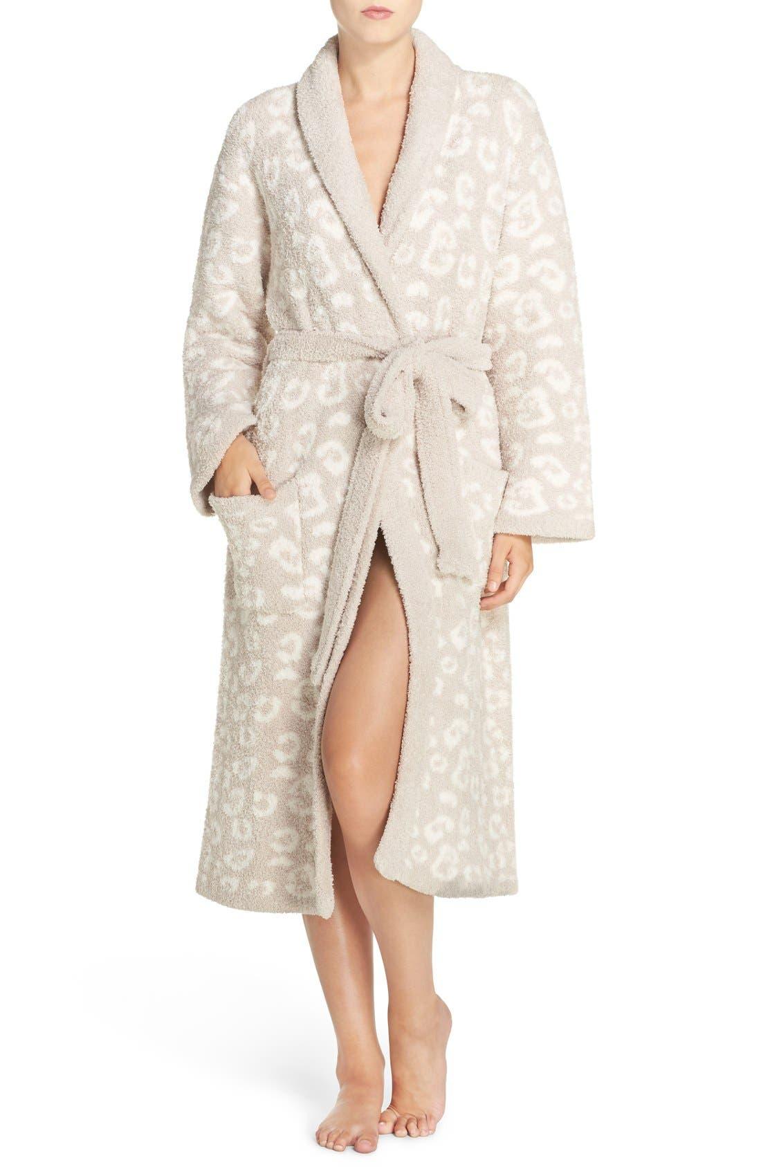 CozyChic<sup>®</sup> Robe,                         Main,                         color, Stone/ Cream