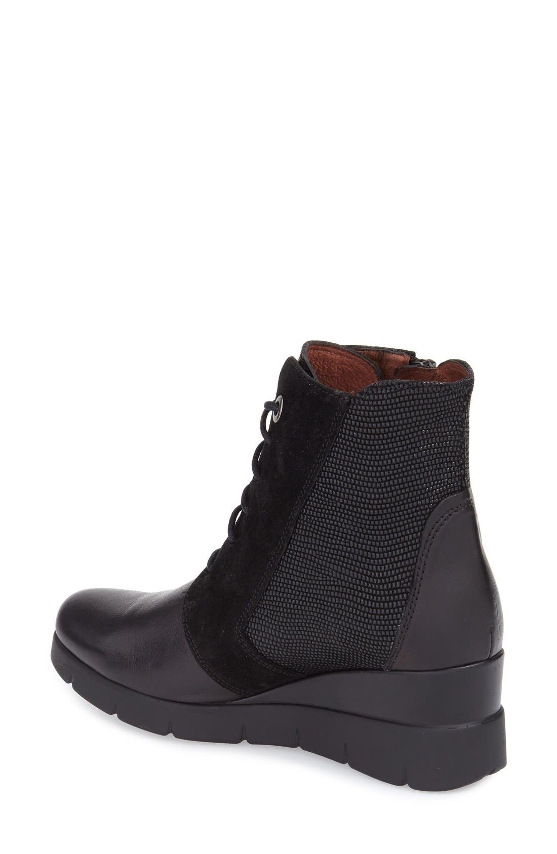 'Lydia' Bootie,                             Alternate thumbnail 2, color,                             Black Lizard Leather