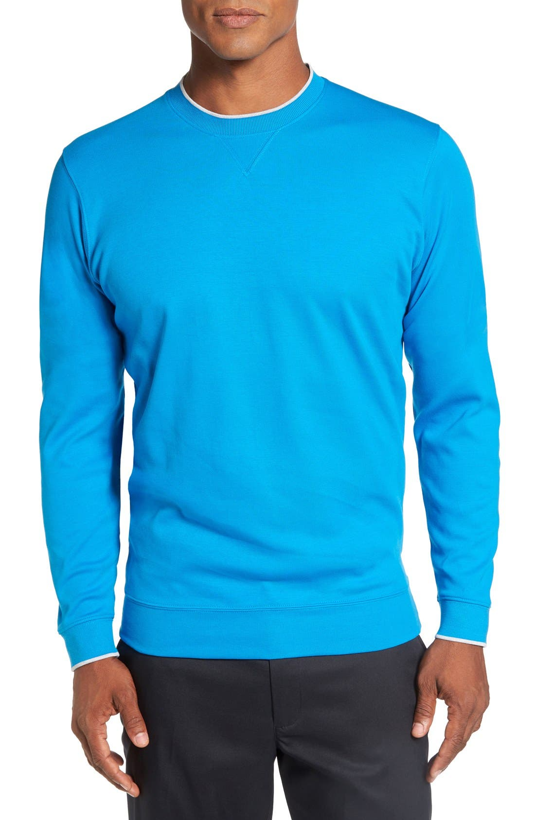 Bobby Jones 'Walker' Tipped Pima Cotton Long Sleeve T-Shirt