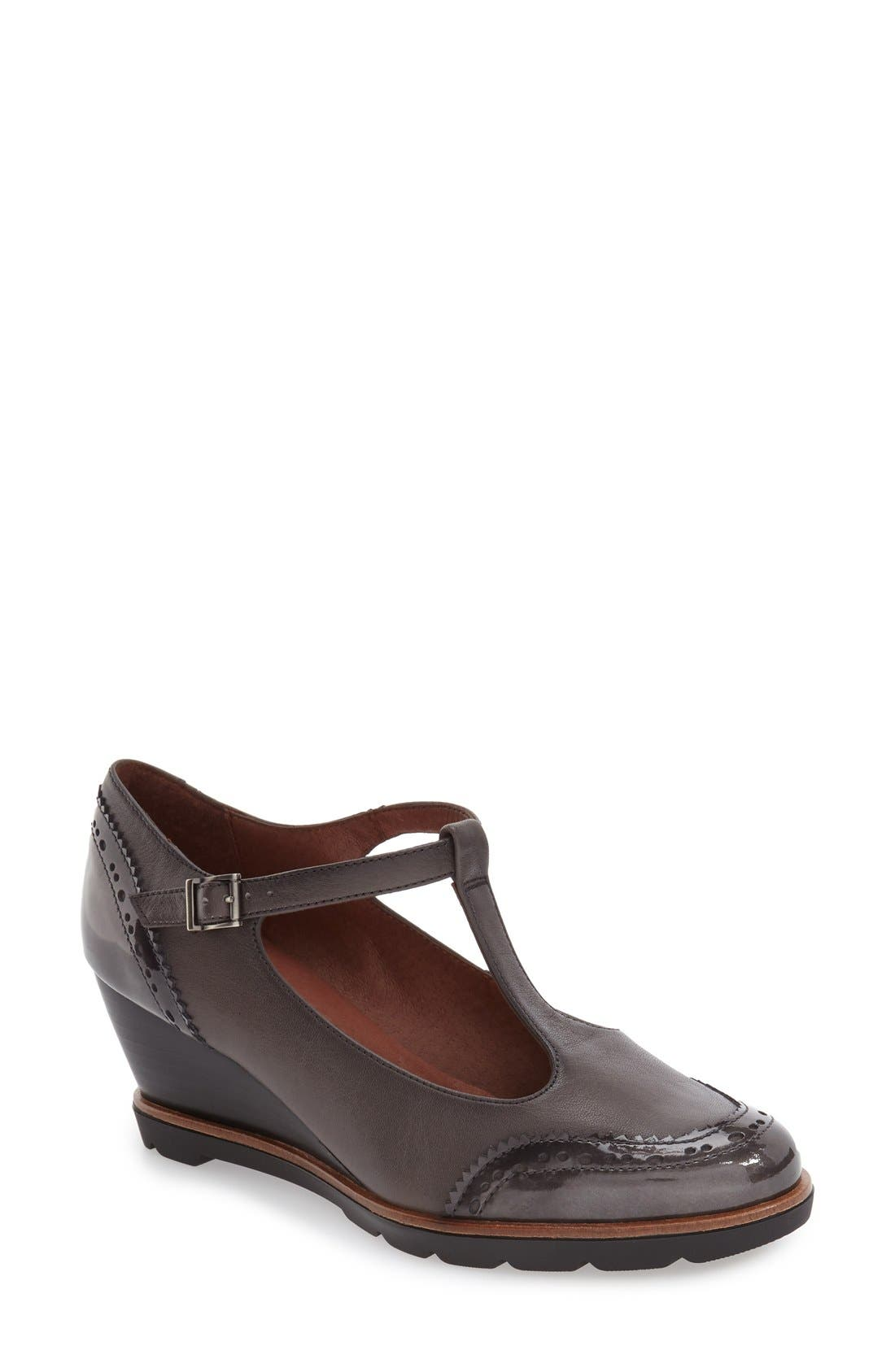 Hispanitas 'Halea' T-Strap Wedge Pump (Women)