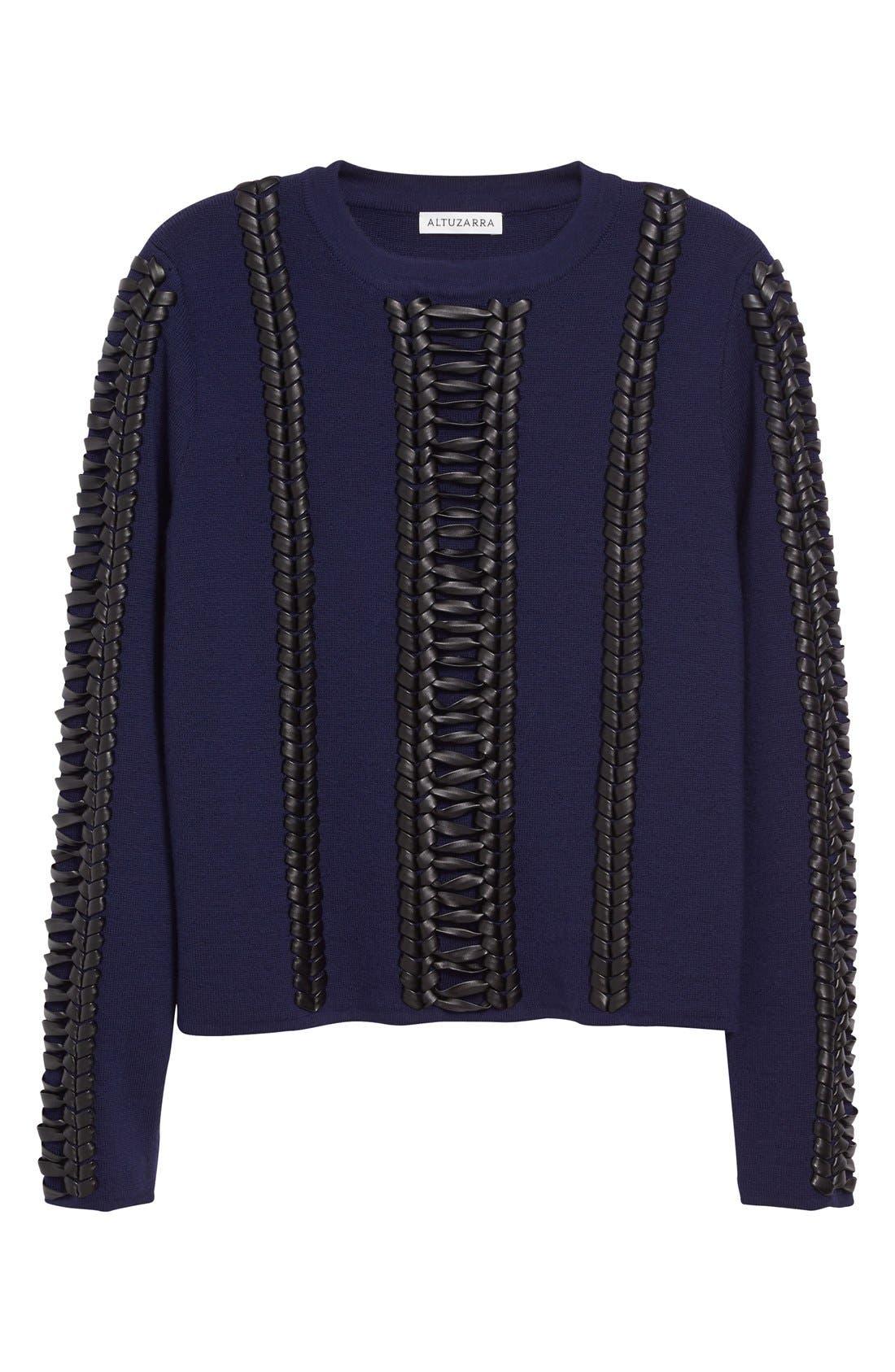 Alternate Image 4  - Altuzarra Deals Lace Detail Wool Sweater