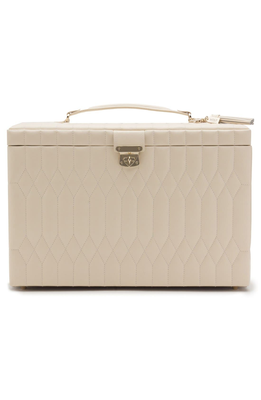 Caroline Jewelry Case,                             Alternate thumbnail 3, color,                             Ivory