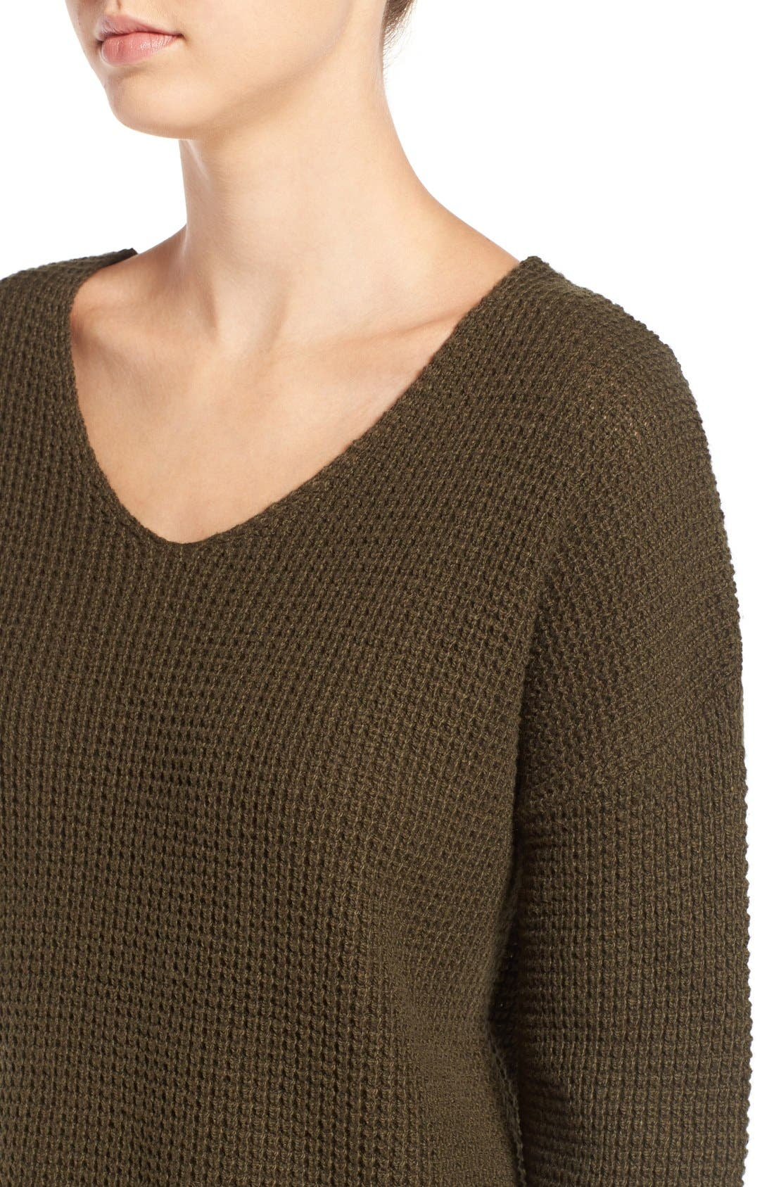 Alternate Image 4  - BP. Texture Knit Pullover
