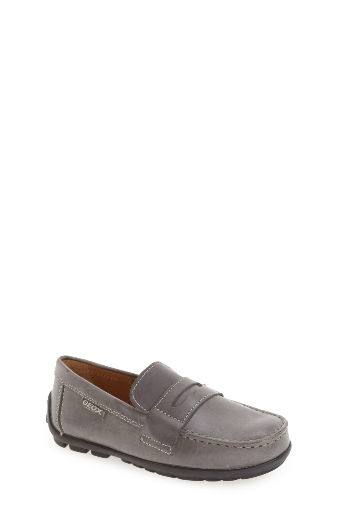 'Fast' Penny Loafer,                         Main,                         color, Dark Grey