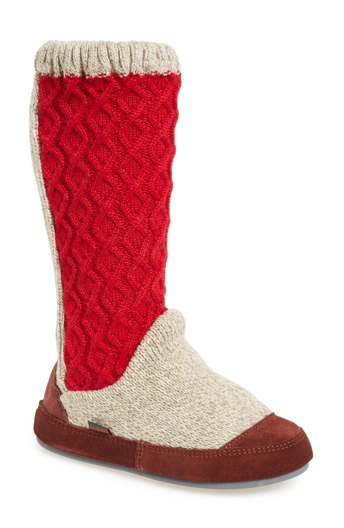 Acorn Slouch Slipper Boot (Women)