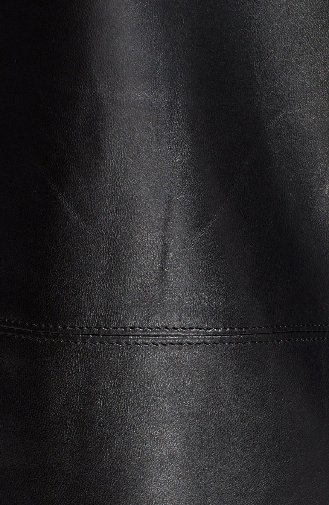 Alternate Image 3  - Undercover Leather & Wool Moto Jacket