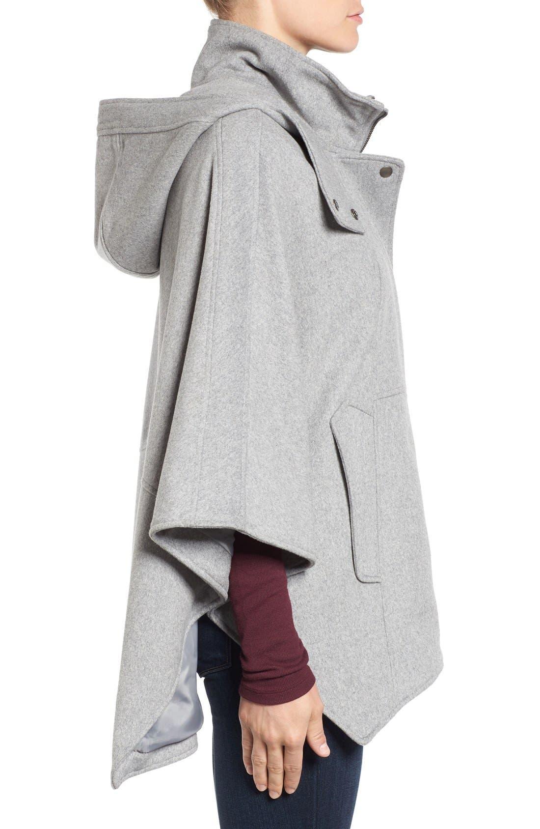 Alternate Image 3  - Halogen® Snap Front Hooded Cape