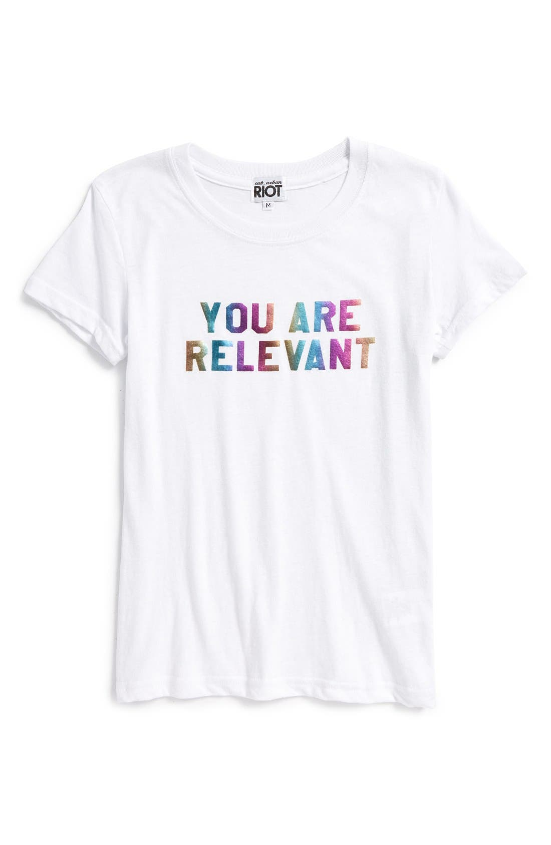 Sub_Urban Riot 'You Are Relevant' Graphic Tee (Big Girls)