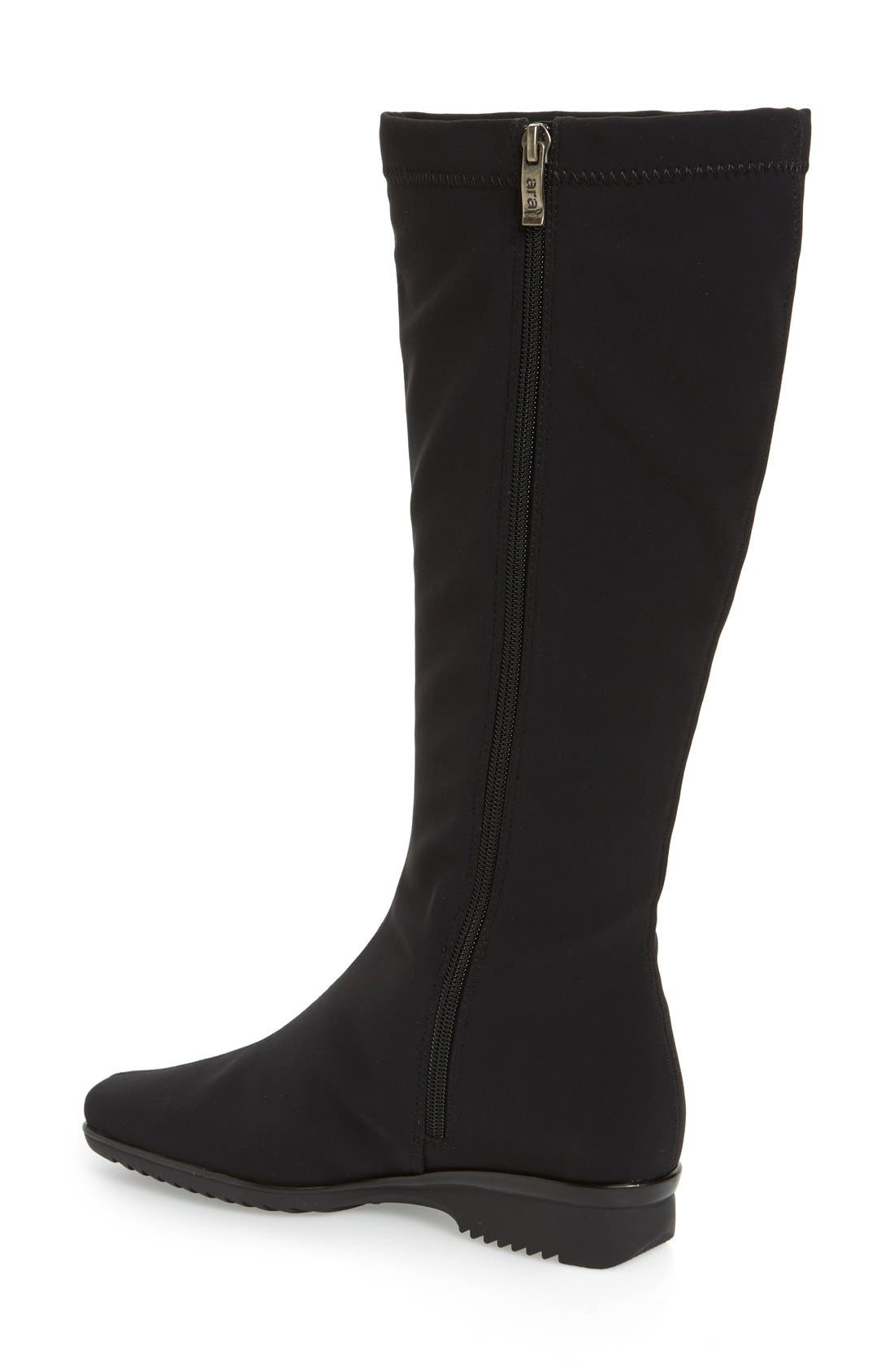 'Paula' Weatherproof Gore-Tex<sup>®</sup> Boot,                             Alternate thumbnail 2, color,                             Black Fabric
