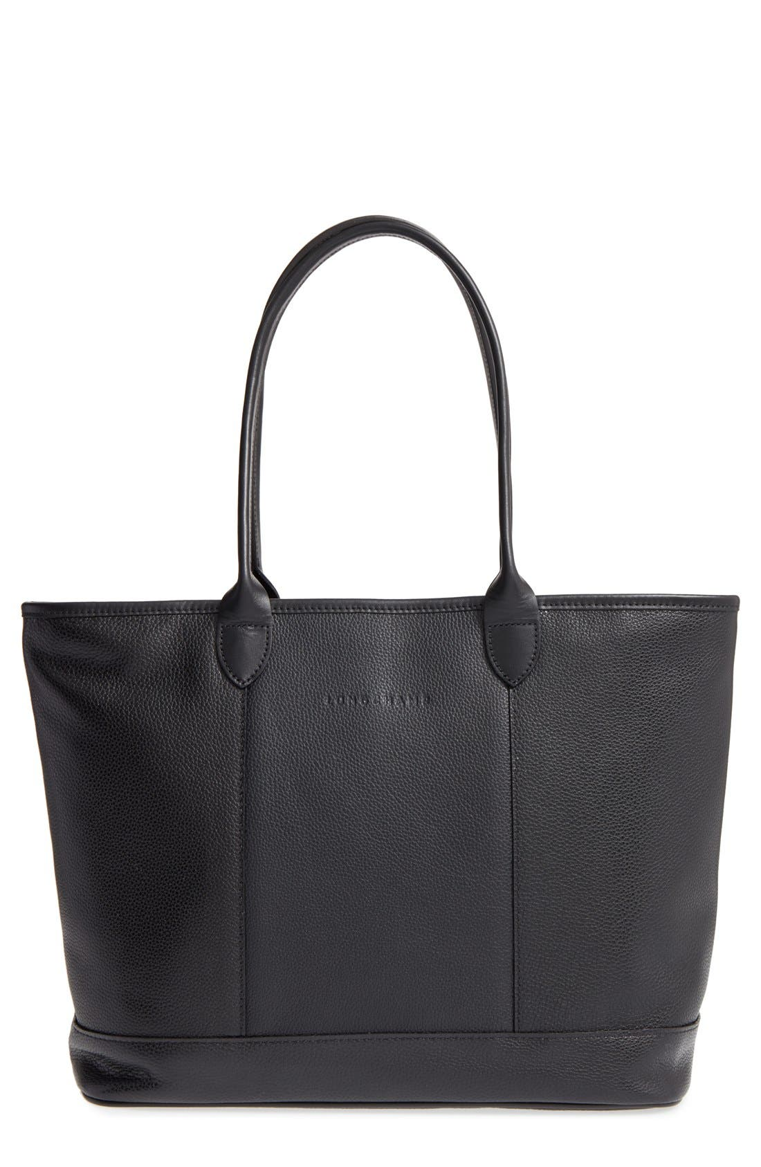 Main Image - Longchamp 'Veau' Leather Tote