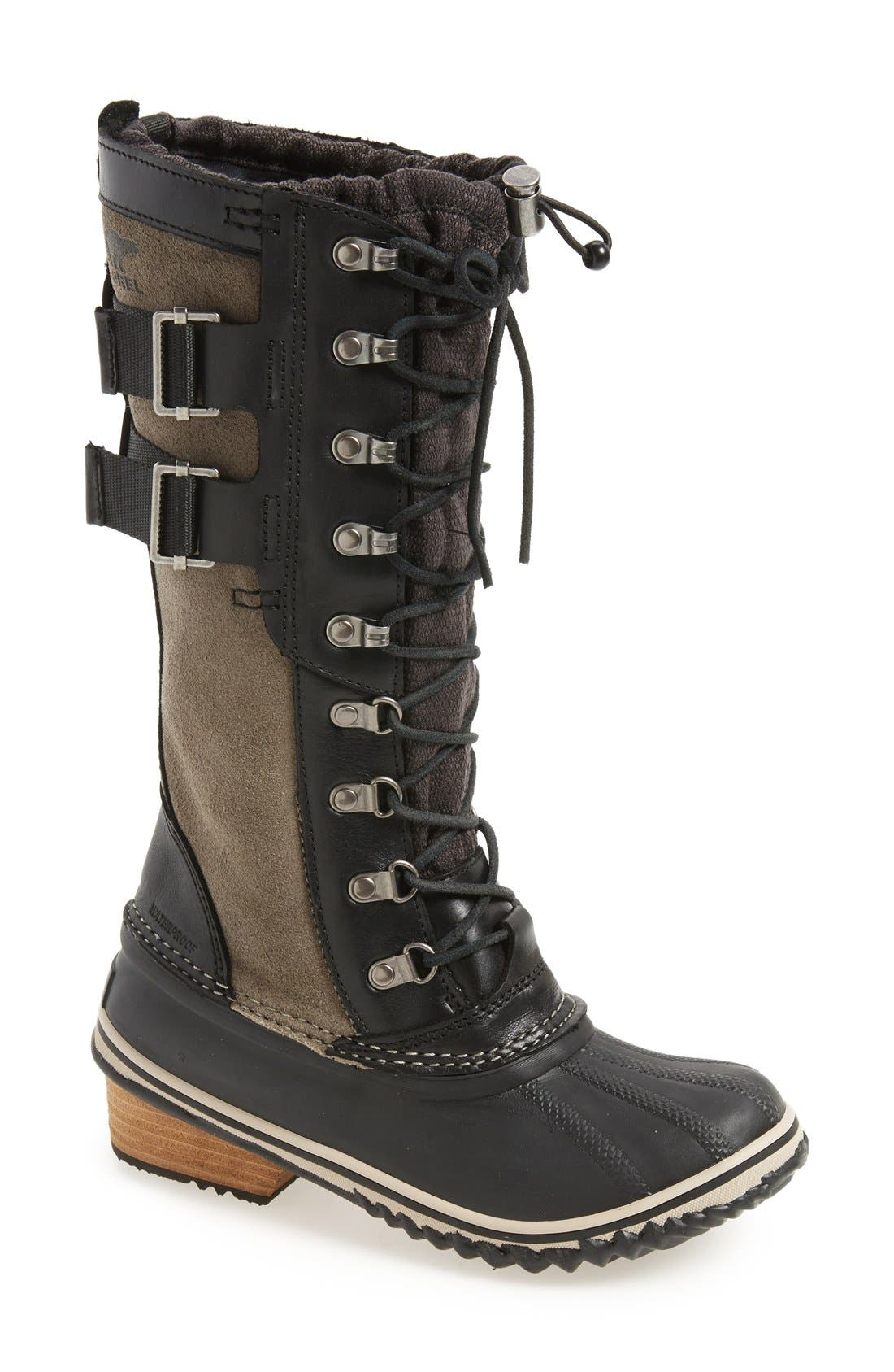 'Conquest Carly II' Waterproof Mid Calf Boot,                             Main thumbnail 1, color,                             Black