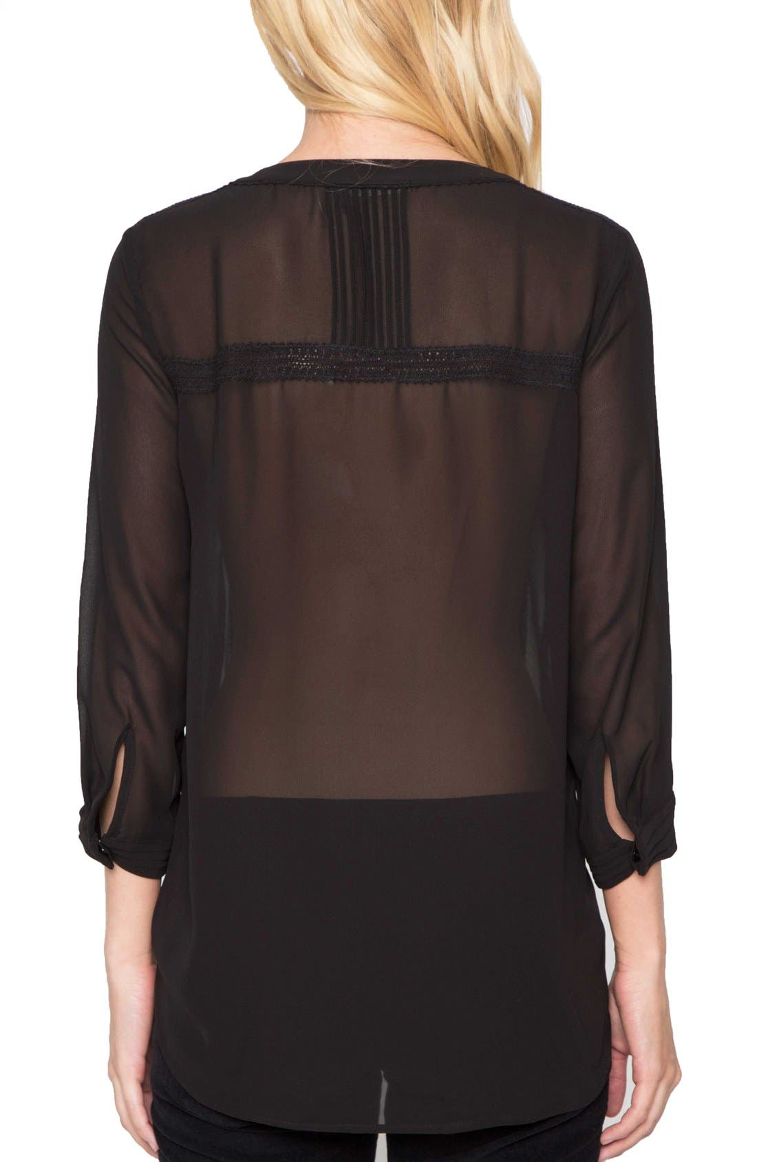 Alternate Image 2  - Willow & Clay Sheer Long Sleeve Blouse