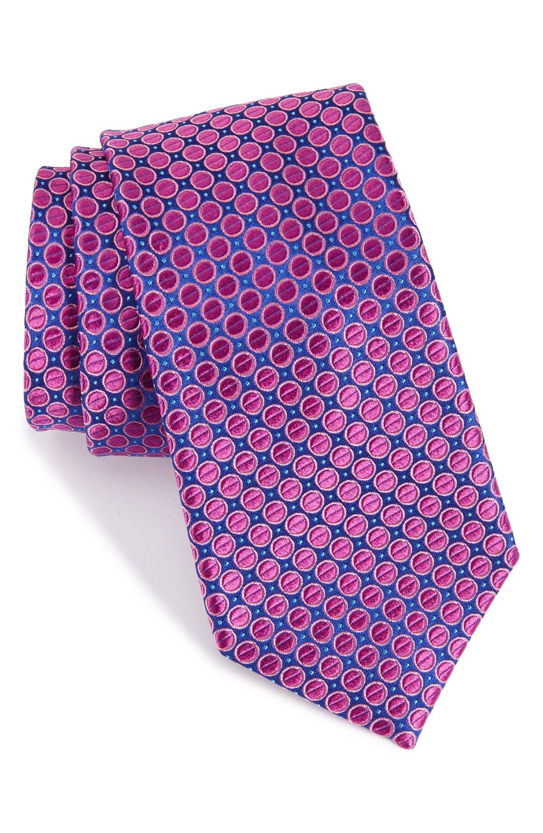 NORDSTROM MENS SHOP Circle & Dot Silk Tie