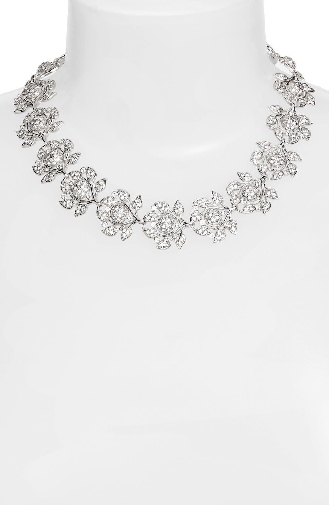 Alternate Image 2  - Nina 'Camilia' Crystal Collar Necklace