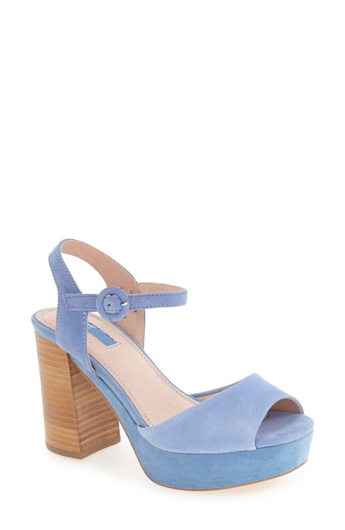 'Lana' Chunky Platform Sandal,                             Main thumbnail 1, color,                             Blue