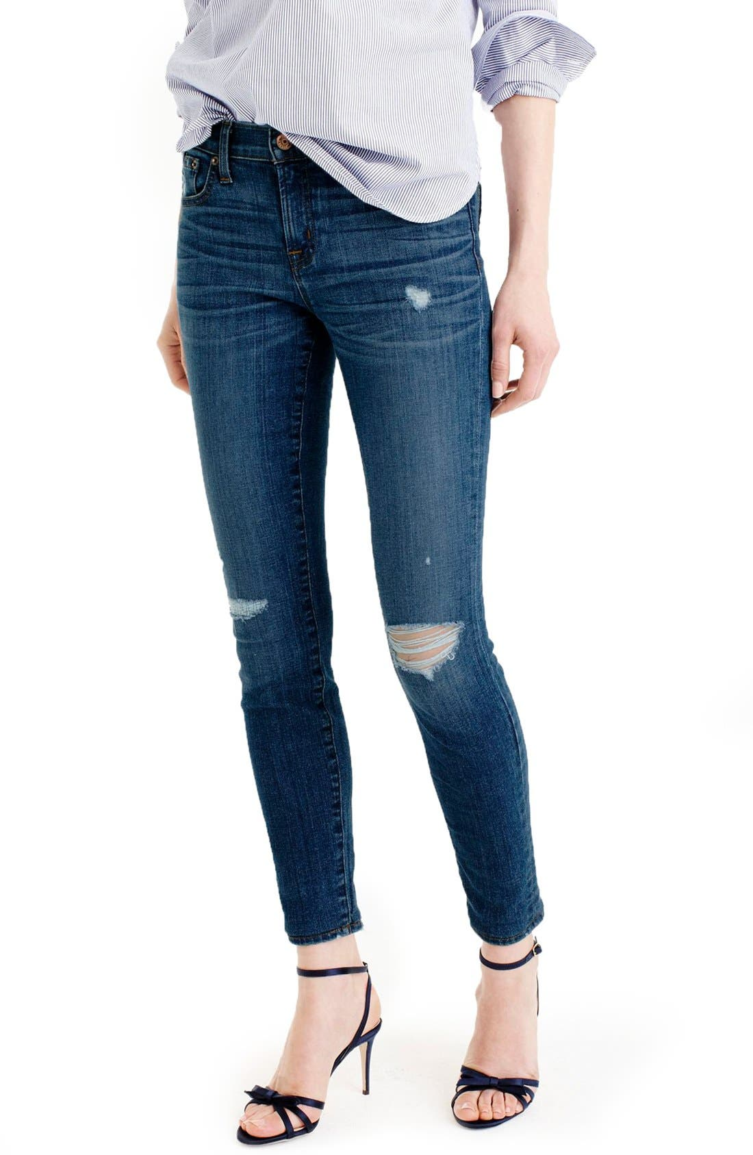 Main Image - J.Crew Toothpick Jeans (Pamona) (Regular & Petite)