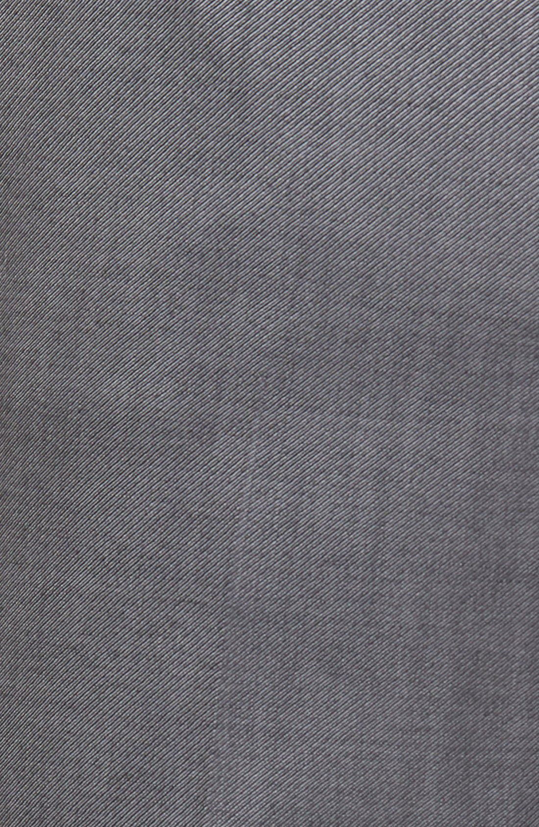Flat Front Twill Wool Trousers,                             Alternate thumbnail 5, color,                             Medium Grey