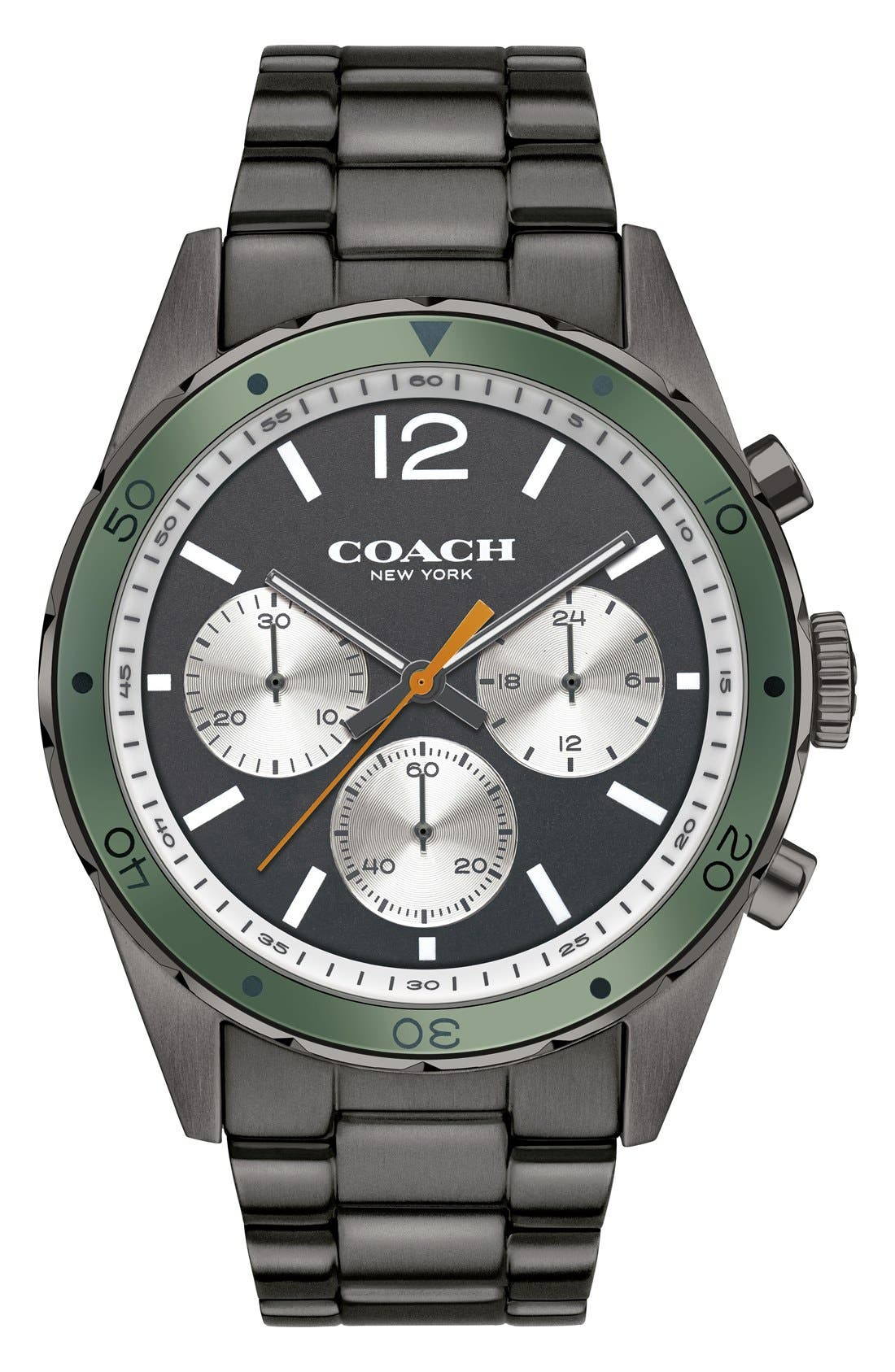 Alternate Image 1 Selected - COACH 'Sullivan Sport' Chronograph Bracelet Watch, 44mm