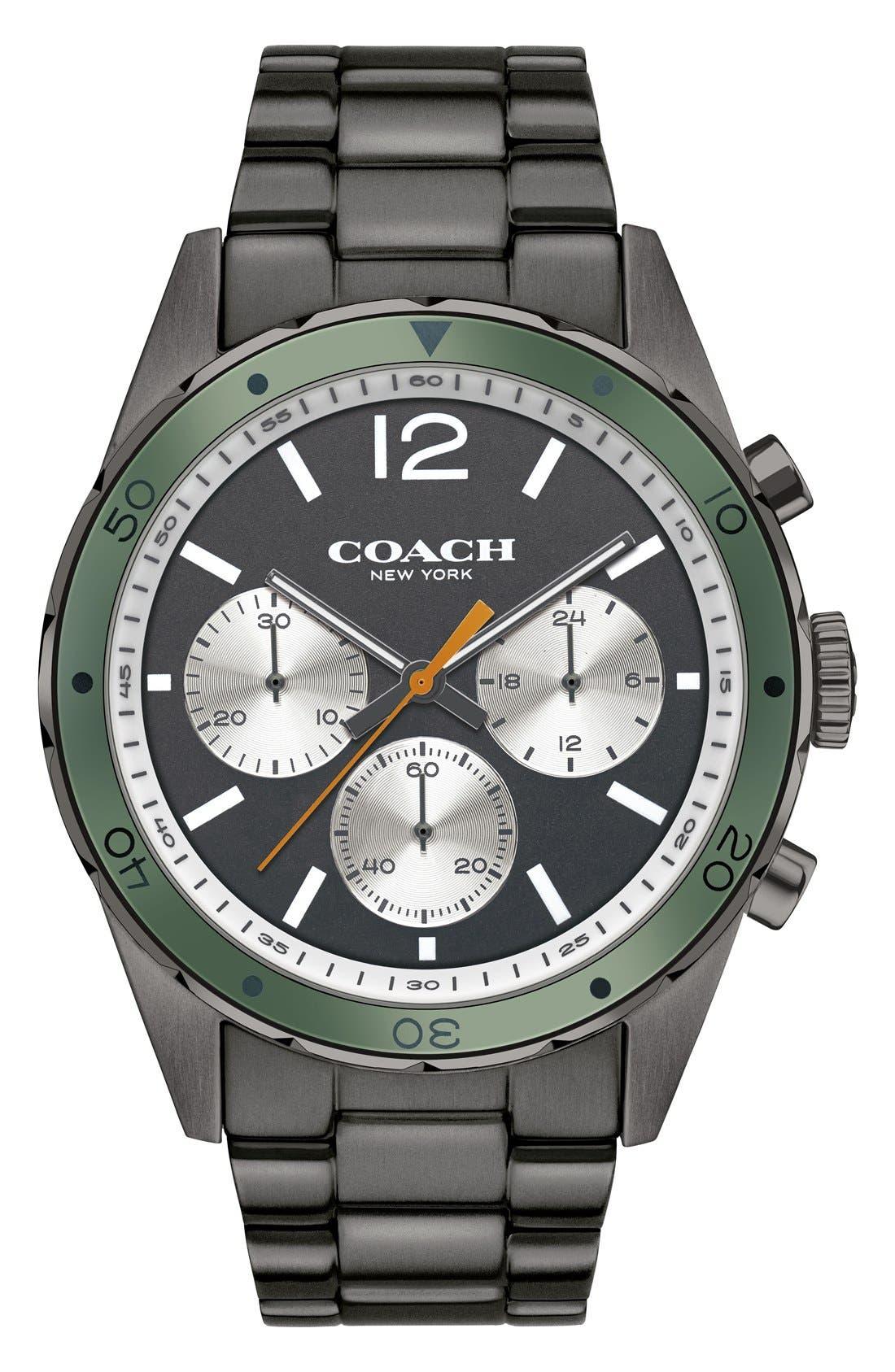 COACH 'Sullivan Sport' Chronograph Bracelet Watch, 44mm