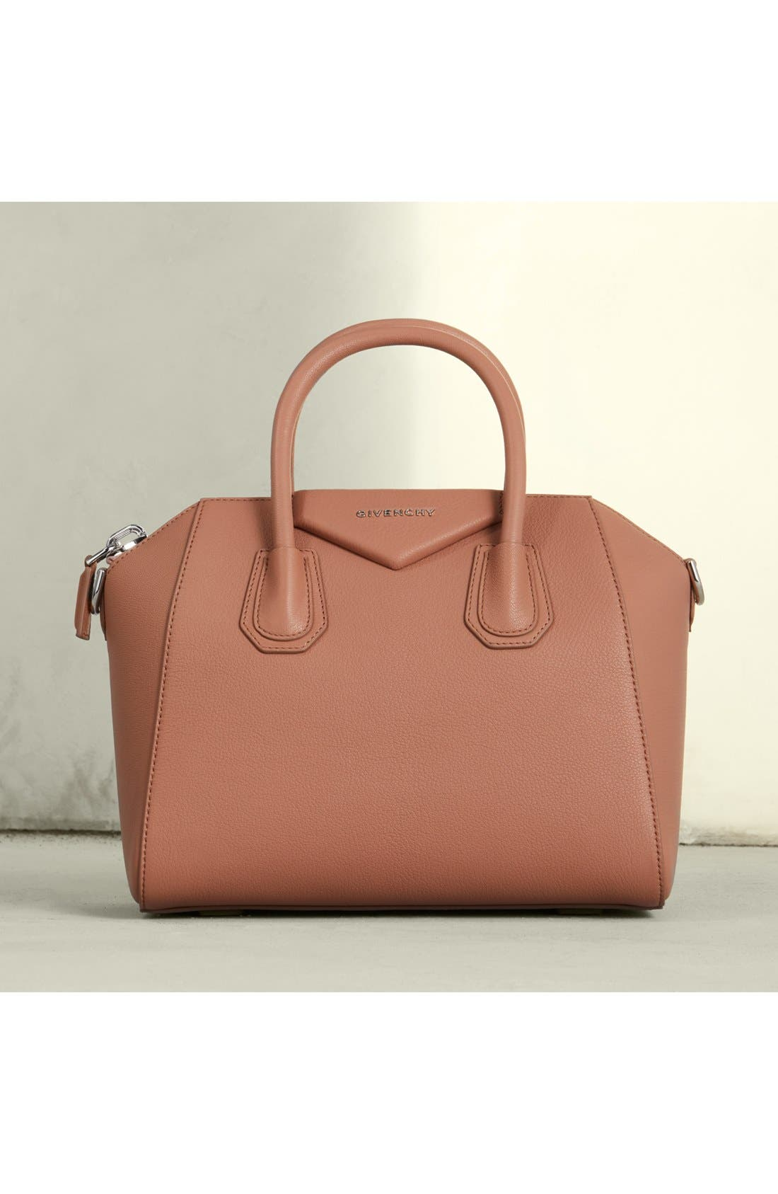 'Small Antigona' Leather Satchel,                             Alternate thumbnail 7, color,