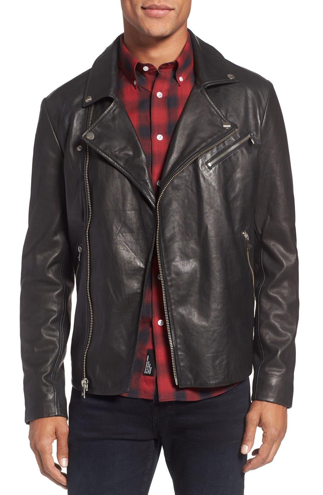Main Image - LaMarque Leather Biker Jacket