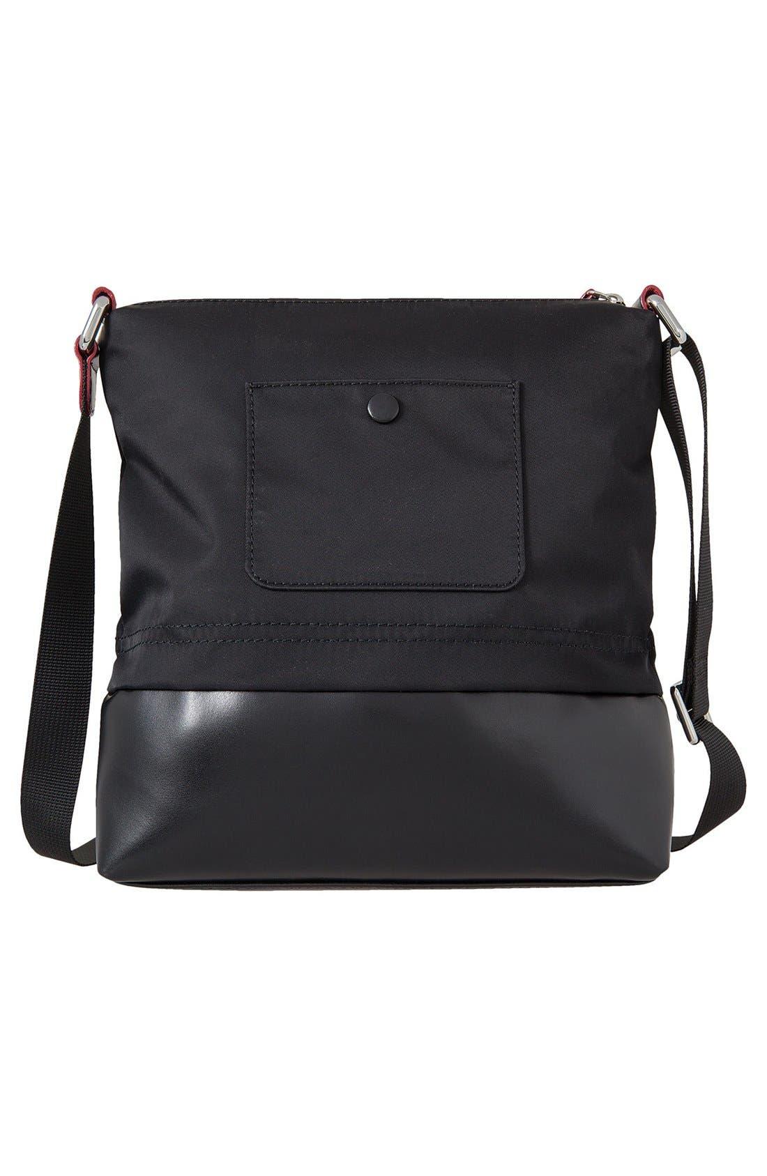 Wanda RFID Nylon & Leather Crossbody Bag,                             Alternate thumbnail 2, color,                             Black
