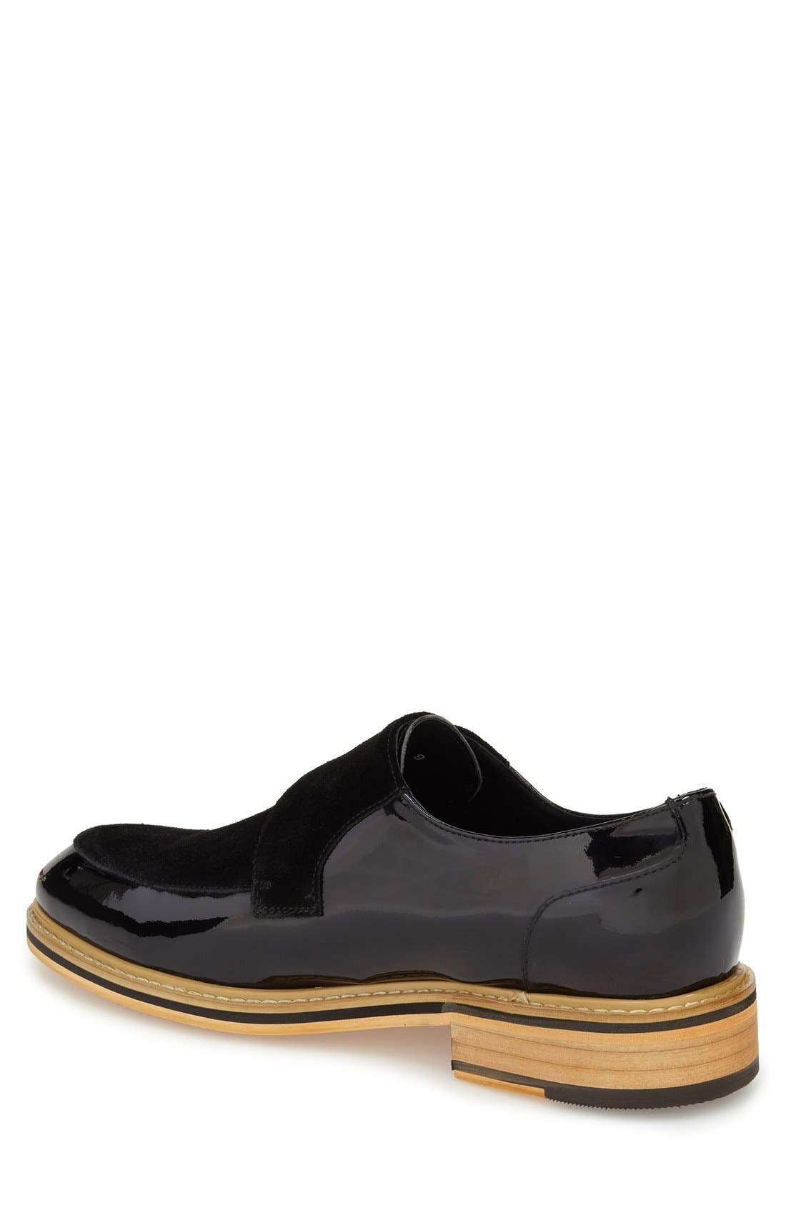 'Courbet' Monk Strap Shoe,                             Alternate thumbnail 2, color,                             Black